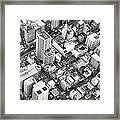 Tokyo City Black And White Framed Print
