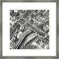 Tokyo Intersection Black And White Framed Print