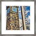 Tollbooth Clock Tower Glasgow Framed Print