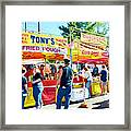 Tonys Concessions Potato Garlic Soup Bread Bowl Framed Print