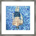 Top View Of Man Diving Framed Print