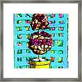Topiary Of Dried Roses Framed Print
