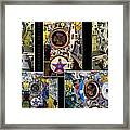 Torpedo Tubes Collage Russian Submarine Framed Print