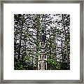 Totem Pole Of Southeast Alaska Framed Print