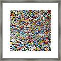 Tour Group Stickers Say We Were Here. Framed Print