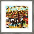 Toy Town Carousel  Framed Print