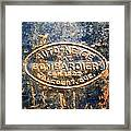 Tractor Emblem Framed Print