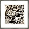 Tractor Tracks In Dry Mud Framed Print