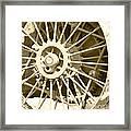 Tractor Wheel Framed Print