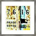 Train Plate 3 Framed Print by April Lee