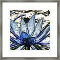Translucent Blues Framed Print