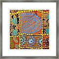 Travel Shopping Colorful Tapestry 9 India Rajasthan Framed Print