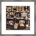 Treadle Sewing Machines Framed Print