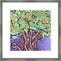 Tree In Three Dee Framed Print by Genevieve Esson