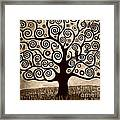 Tree Of Life In Sepia Framed Print