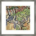 Tree Roots Framed Print by Vincent Van Gogh