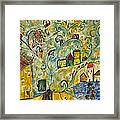 Tree Village Framed Print
