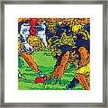 Trench Warfare Color Framed Print