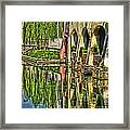 Treviso Canal And Reflections Framed Print