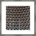 Triangles Framed Print