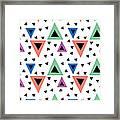 Triangular Dance Repeat Print Framed Print