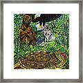 Tribal Gathering Framed Print