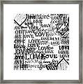Tribute To Love In White Framed Print