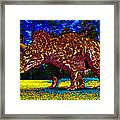 Triceratops Painting Framed Print