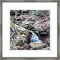 Trickle Of Water Framed Print