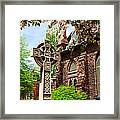 Trinity Church Garden  7d02024 Framed Print
