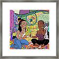 Trippy Smoking Session Framed Print