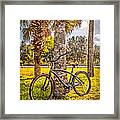 Tropical Bicycle Framed Print