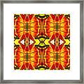 Tropical Leaf Pattern 2 Framed Print