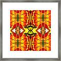 Tropical Leaf Pattern 4 Framed Print