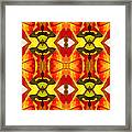 Tropical Leaf Pattern 7 Framed Print