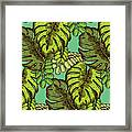 Tropical Leaves Pattern Framed Print