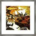 Tropical Water Garden Framed Print