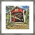 Trostle Town Covered Bridge Framed Print