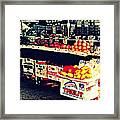 Vintage Outdoor Fruit And Vegetable Stand - Markets Of New York City Framed Print