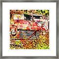Truck Abstract Framed Print by Robert Jensen