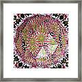 Tulips Kaleidoscope Under Polyhedron Glass Framed Print