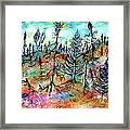 Quebec Taiga Landscape Framed Print