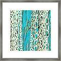 Turquoise Chained Framed Print