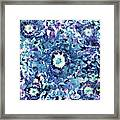 Turquoise Cloud Framed Print