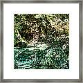 Turquoise Forest Pond On A Summer Day No1 Framed Print