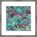 Turquoise 3d Sculpting Abstract Painting Framed Print