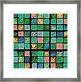 Turquoise Sudoku Framed Print