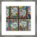 Twenty Third Psalm Collage 2 Framed Print