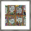 Twenty Third Psalm Collage Framed Print