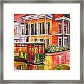 Twilight In The Garden District Framed Print